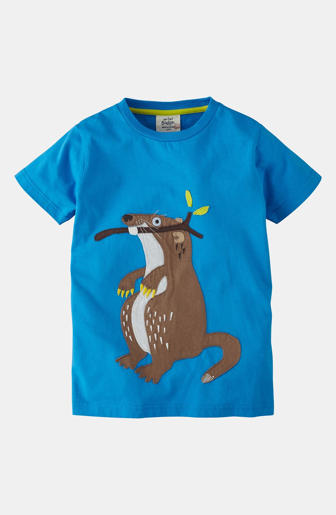 Alternate Image 1 Selected - Mini Boden 'Big Appliqué' T-Shirt (Little Boys & Big Boys)