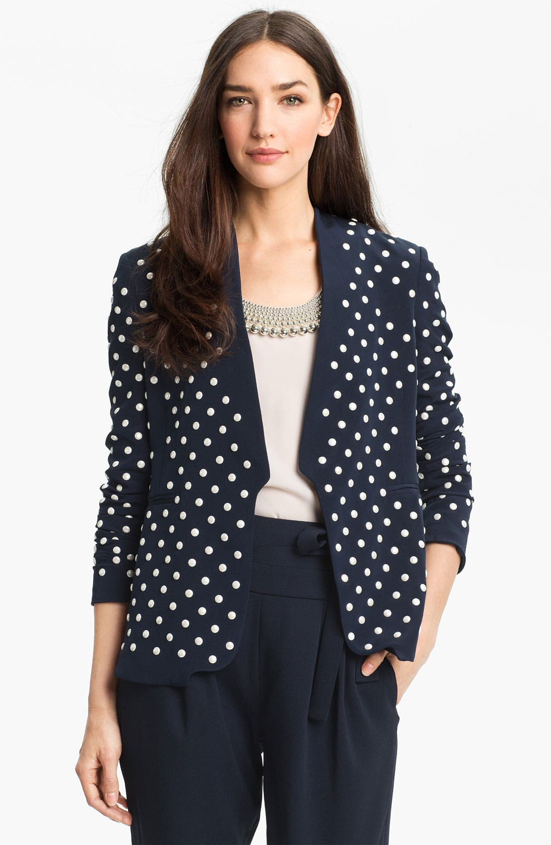 Alternate Image 1 Selected - Diane von Furstenberg 'Paulette' Studded Jacket