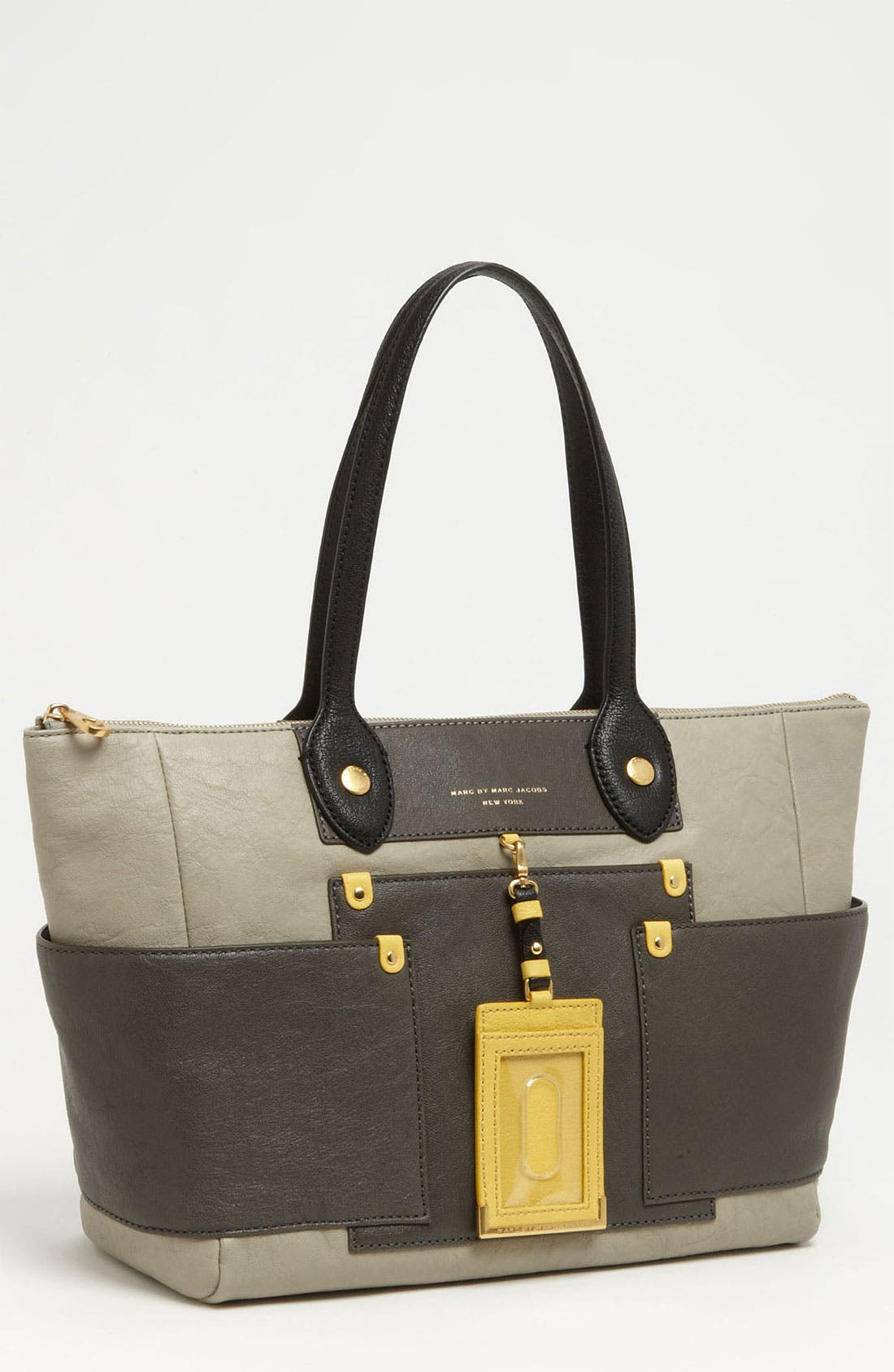 Alternate Image 1 Selected - MARC BY MARC JACOBS 'Preppy Colorblock' Leather Tote