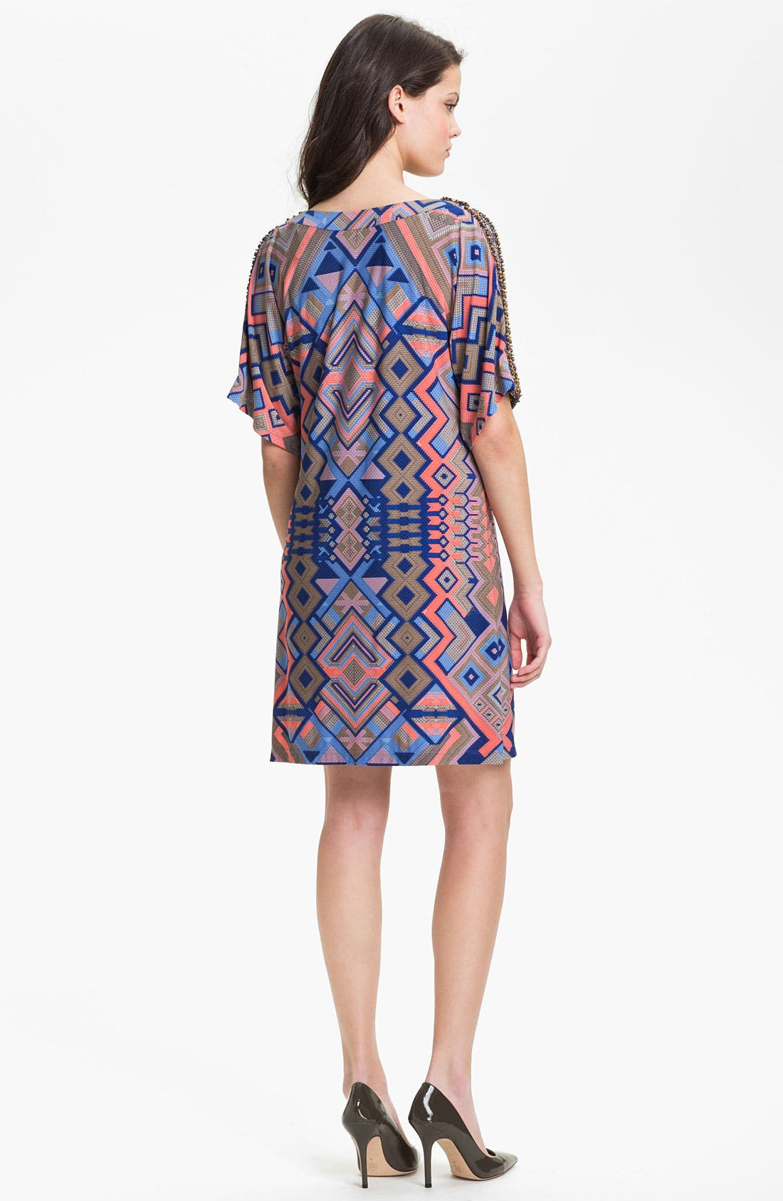 Alternate Image 2  - Donna Morgan 'Becca' Embellished Print Shift Dress