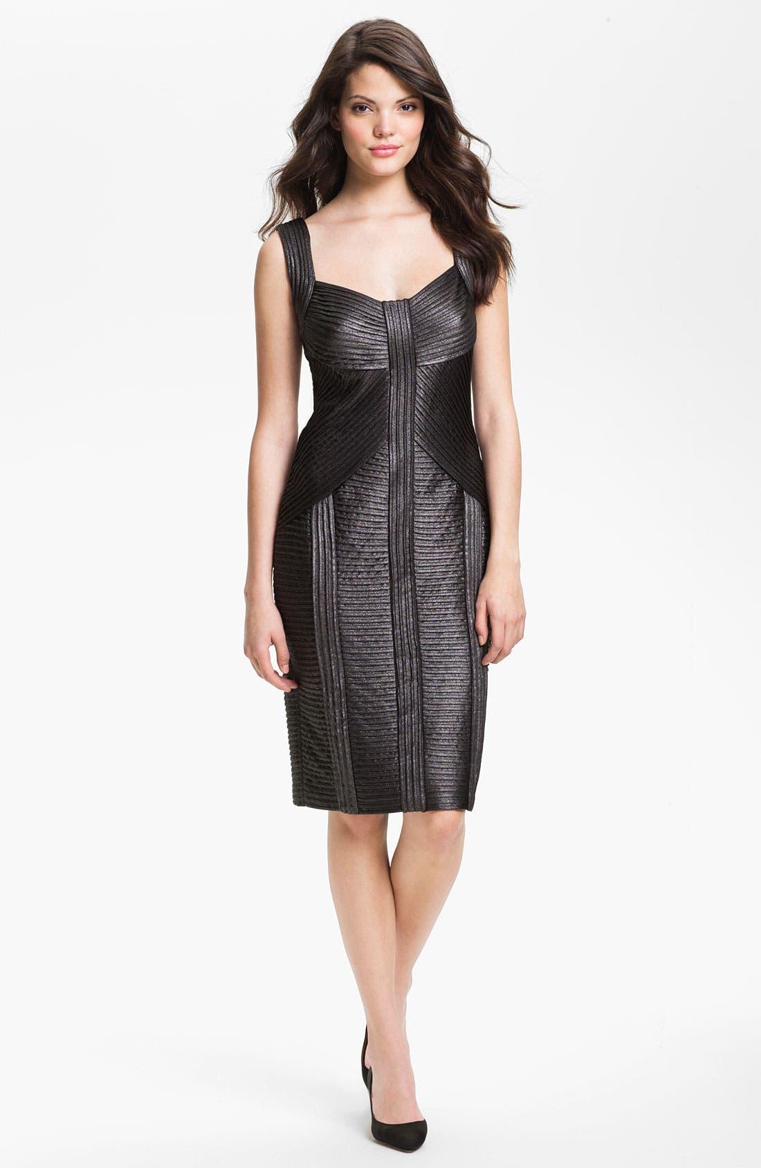 Alternate Image 1 Selected - Tadashi Shoji Metallic Ottoman Sheath Dress