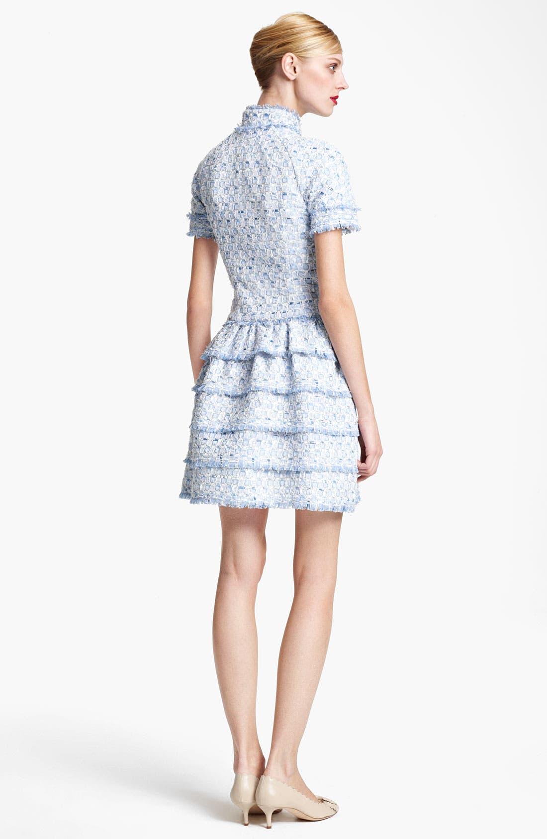 Alternate Image 2  - Oscar de la Renta Tiered Tweed Dress