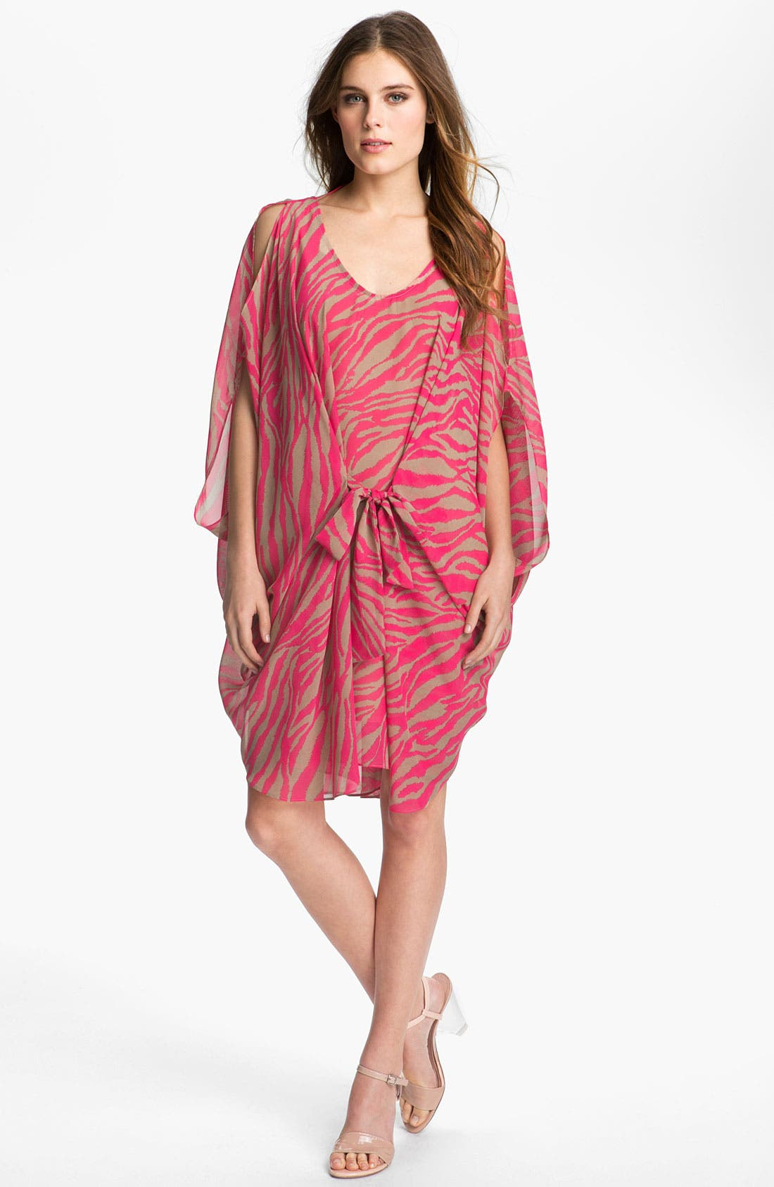 Main Image - Abi Ferrin 'Greta' Convertible Print Chiffon Dress