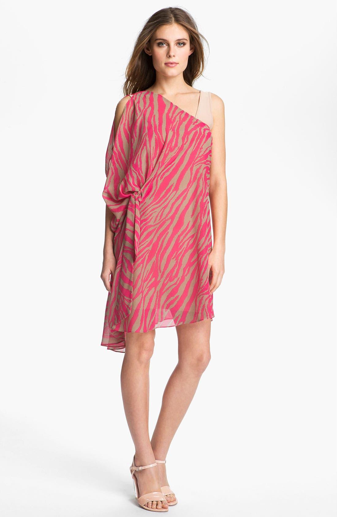 Alternate Image 2  - Abi Ferrin 'Greta' Convertible Print Chiffon Dress
