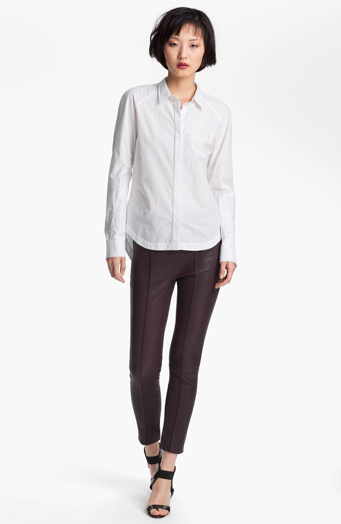 Alternate Image 1 Selected - 3.1 Phillip Lim Shirt & Leather Pants