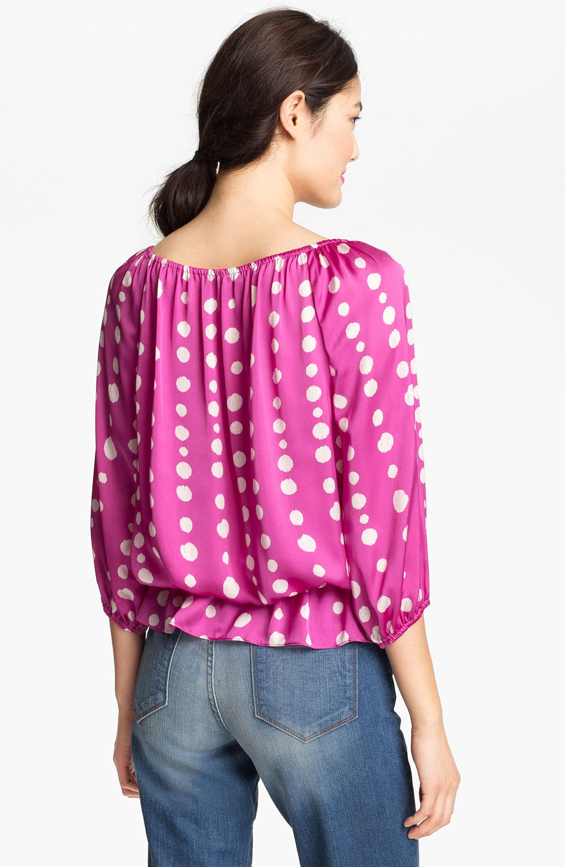 Alternate Image 2  - Vince Camuto Peplum Peasant Blouse