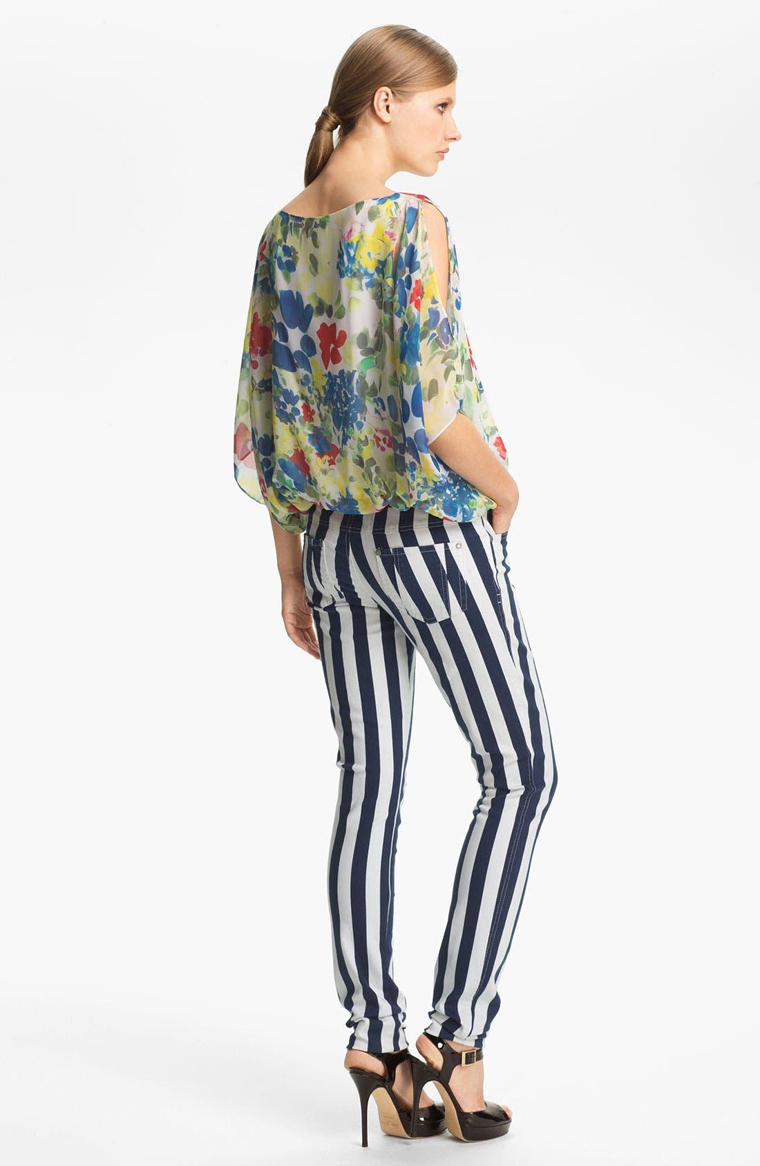 Alternate Image 7  - Alice + Olivia Stripe Skinny Jeans