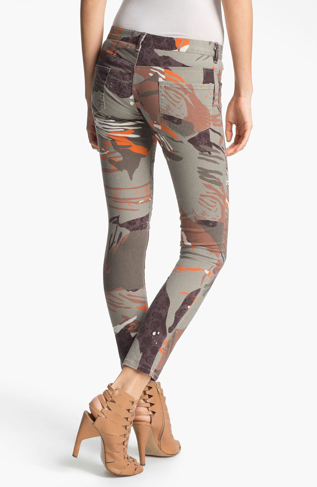 Alternate Image 2  - Edun 'Zimbabwe' Floral Print Skinny Stretch Jeans