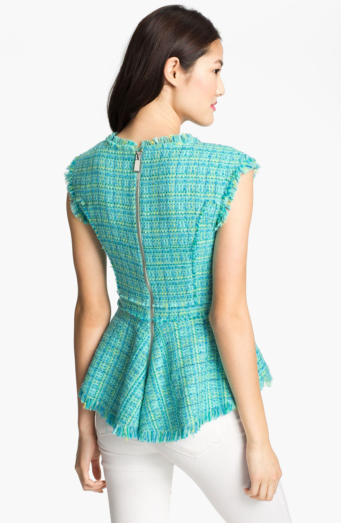 Alternate Image 2  - Vince Camuto Tweed Peplum Blouse