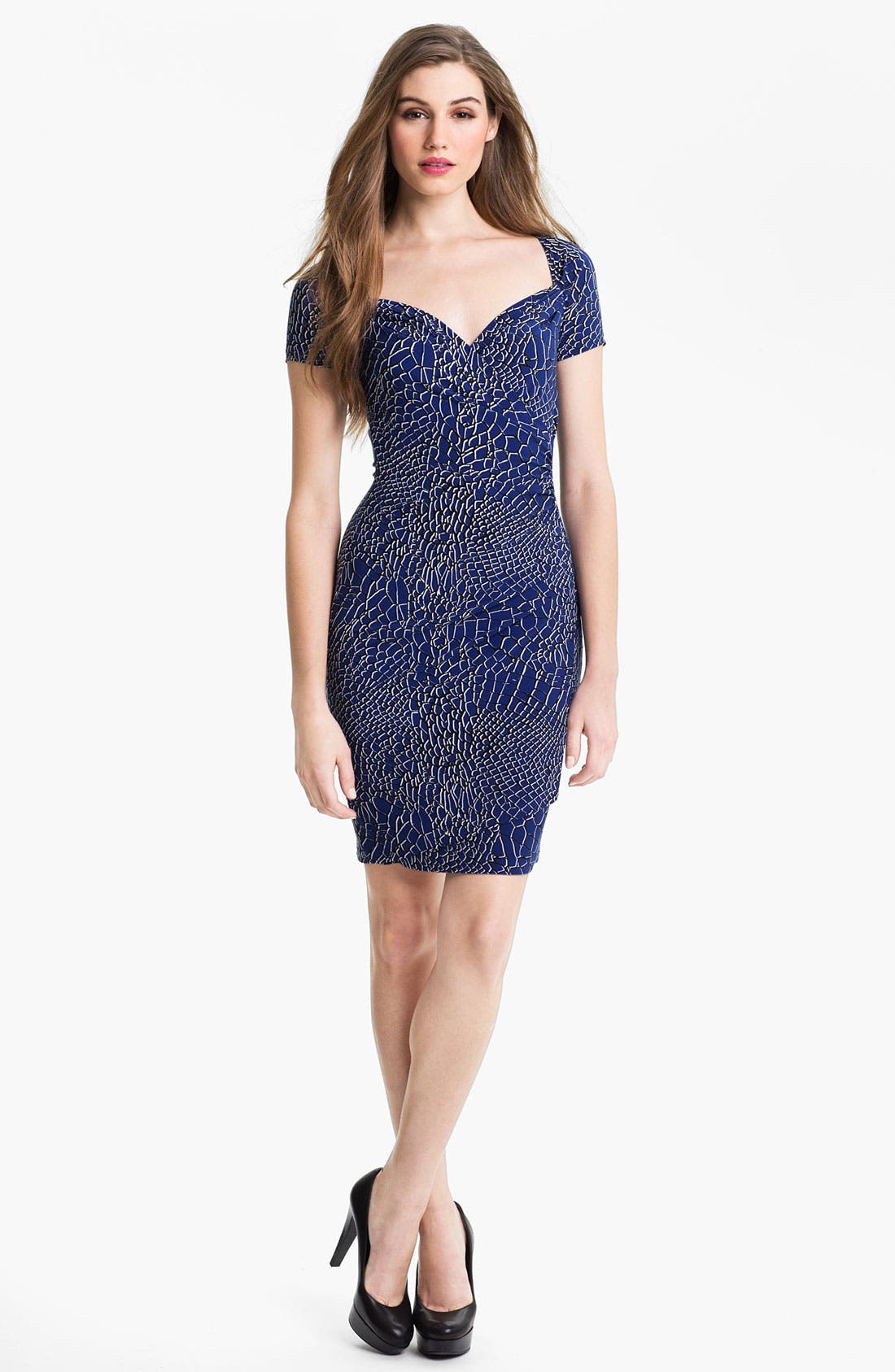 Alternate Image 1 Selected - KAMALIKULTURE Print Sweetheart Sheath Dress