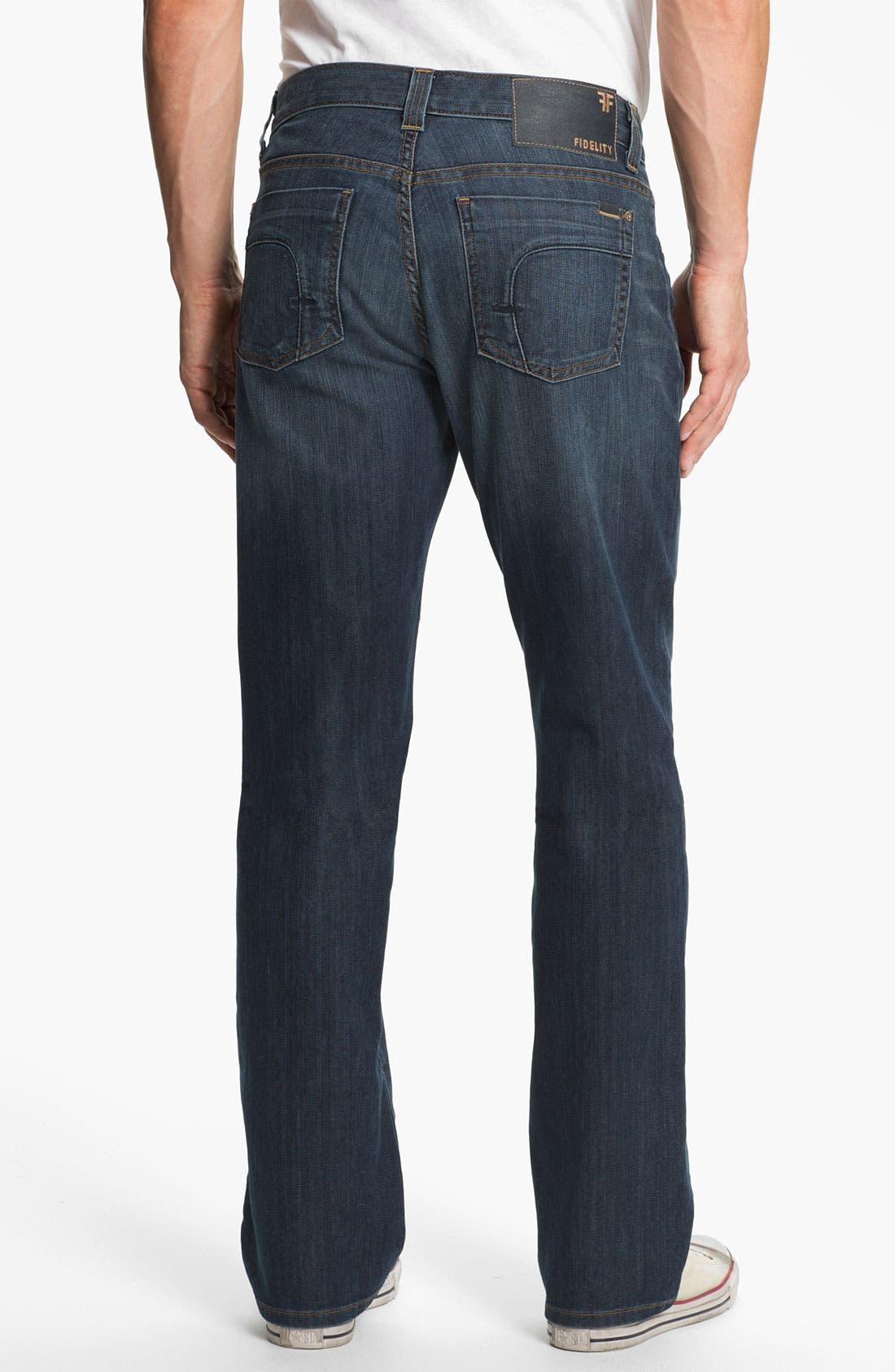 Alternate Image 2  - Fidelity Denim '5011' Straight Leg Jeans (Trigger Medium)