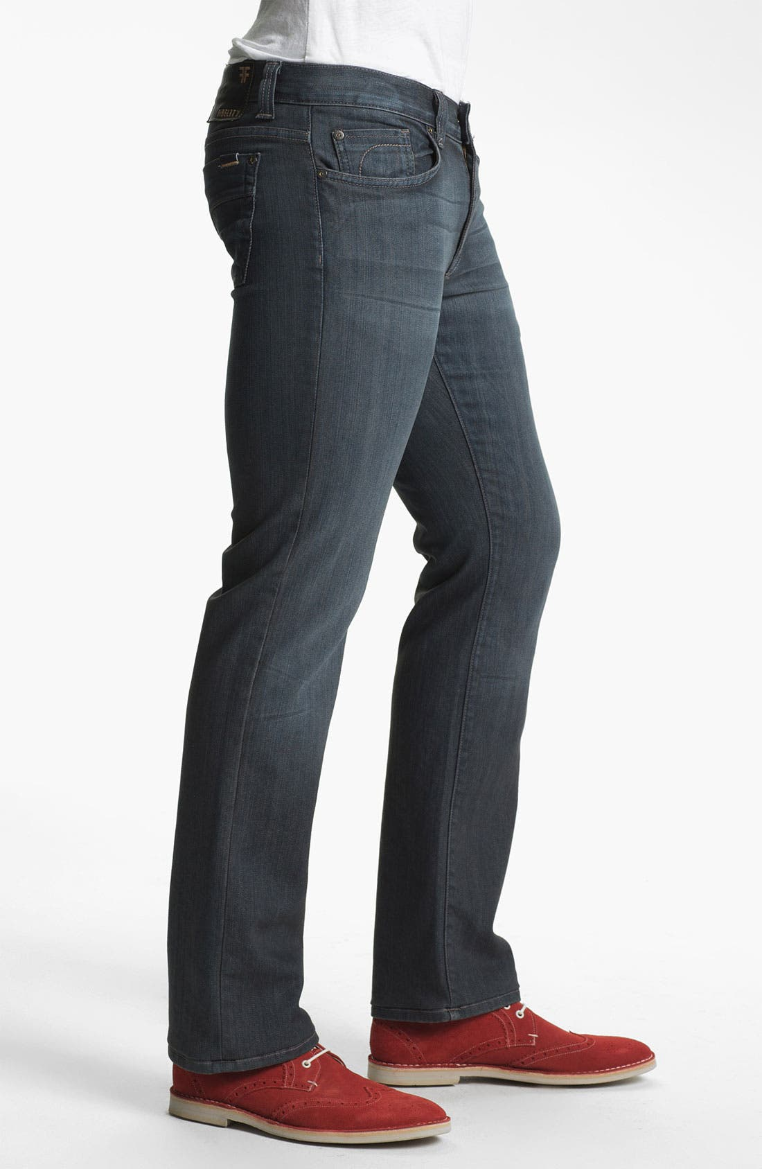 Alternate Image 3  - Fidelity Denim '5011' Straight Leg Jeans (Diego Steel)