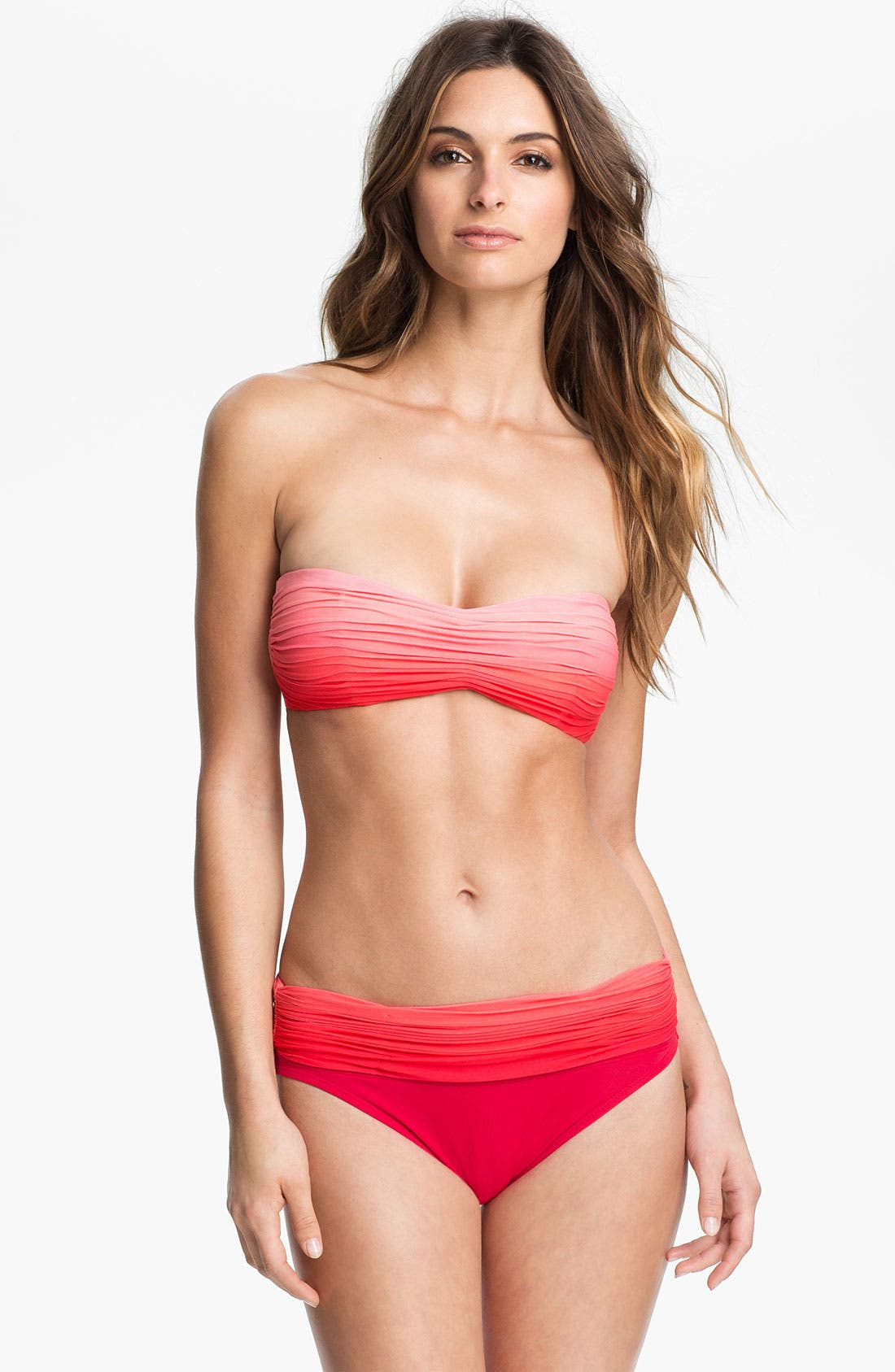 Alternate Image 3  - Carmen Marc Valvo Roll Waist Bikini Bottoms
