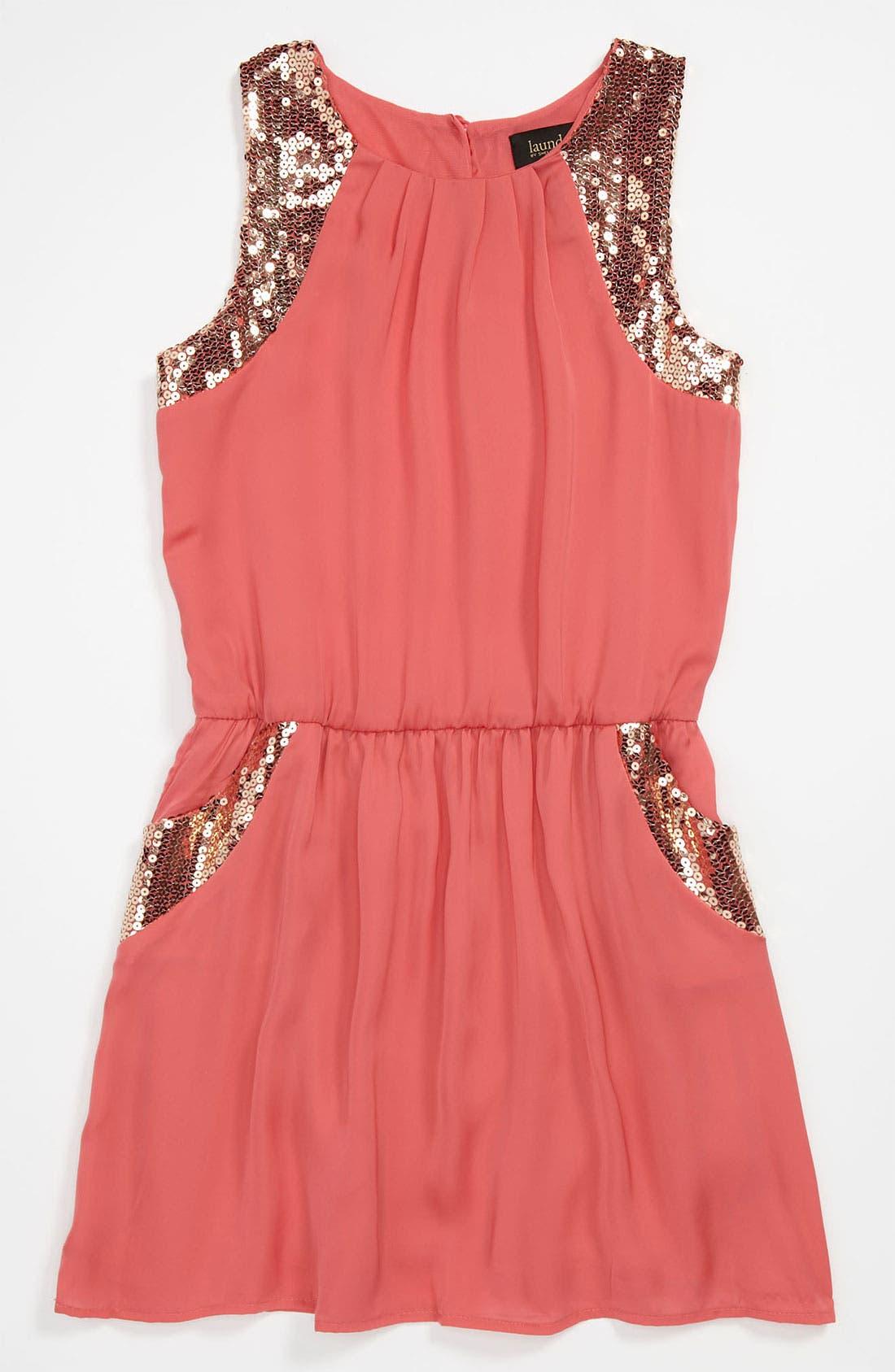 Alternate Image 1 Selected - Laundry by Shelli Segal 'Bella' Sleeveless Dress (Big Girls)
