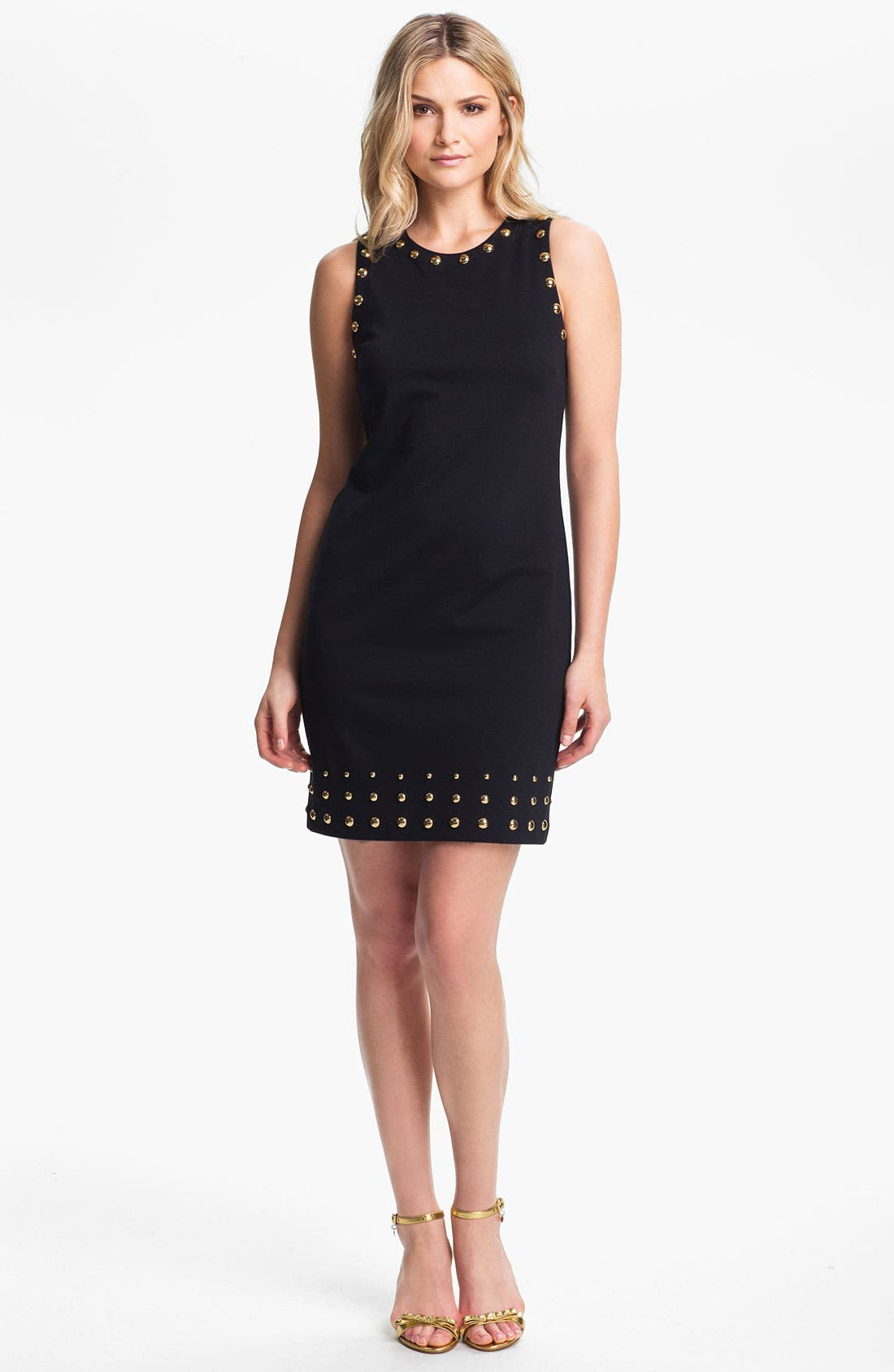Main Image - MICHAEL Michael Kors Studded Ponte Shift Dress