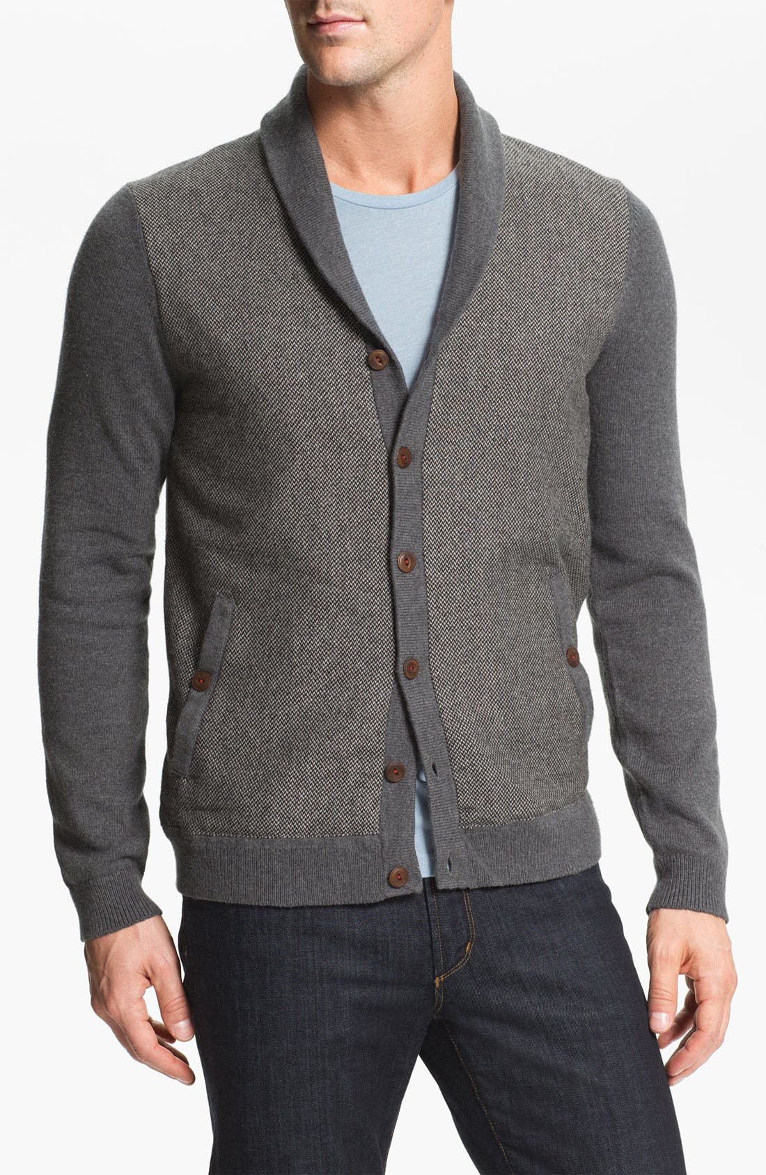 Main Image - Ted Baker London 'Bosport' Shawl Collar Button Cardigan