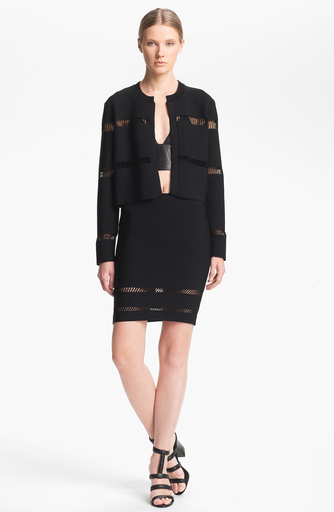 Alternate Image 5  - Alexander Wang Suspension Detail Pencil Skirt