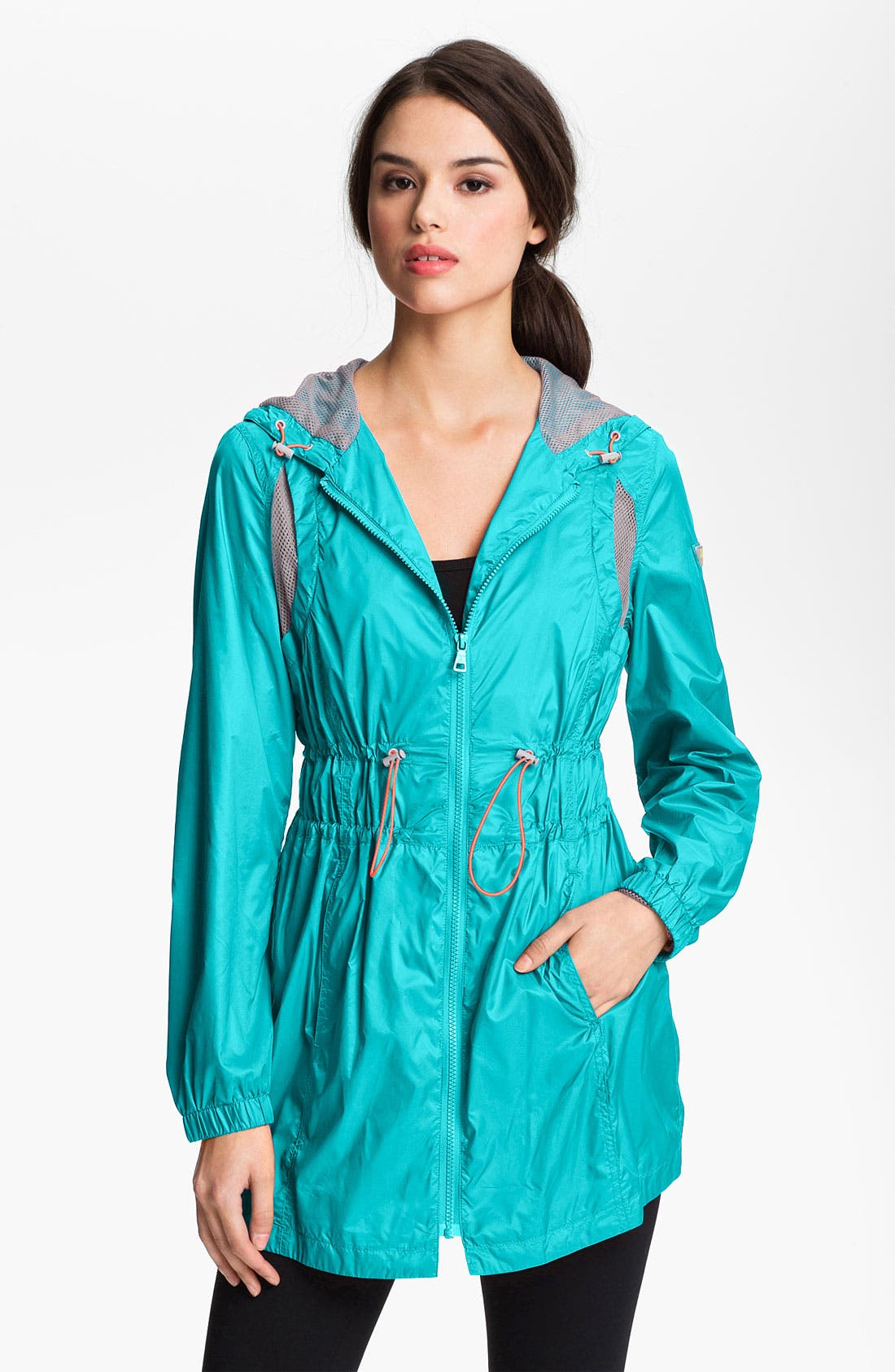 Alternate Image 1 Selected - Sam Edelman Ruched Waist Sporty Anorak