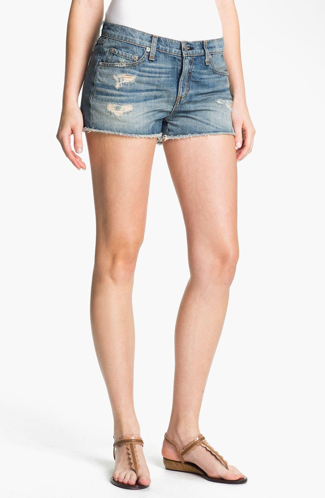 Main Image - rag & bone/JEAN 'The Cutoff' Denim Shorts
