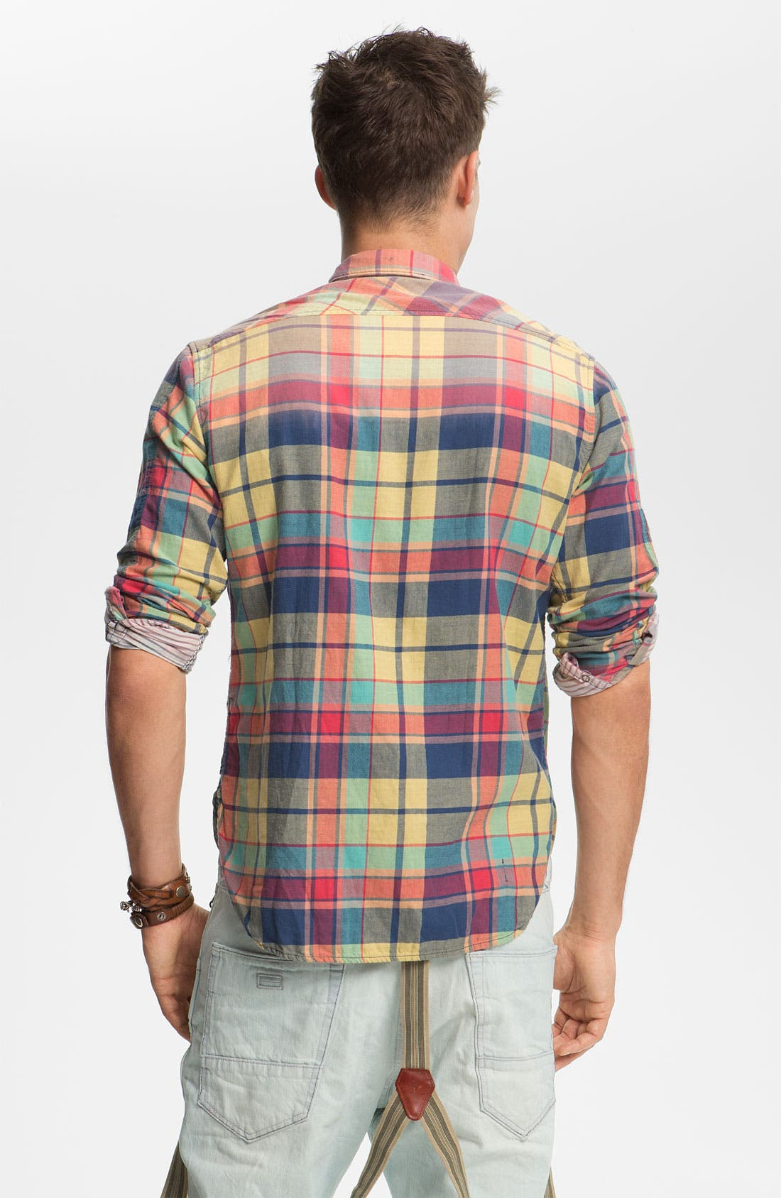 Alternate Image 2  - Scotch & Soda Snap Flannel Shirt