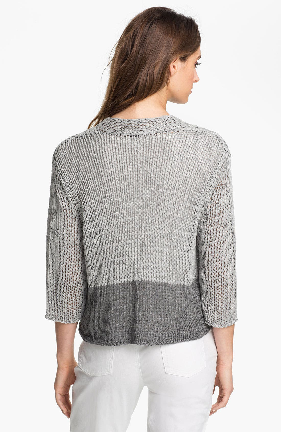 Alternate Image 2  - Eileen Fisher Open Stitch Cardigan (Petite)