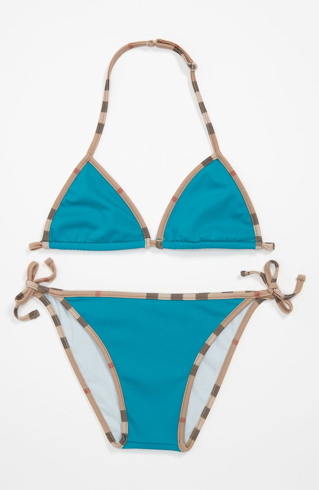 Main Image - Burberry Two Piece Swimsuit (Big Girls)
