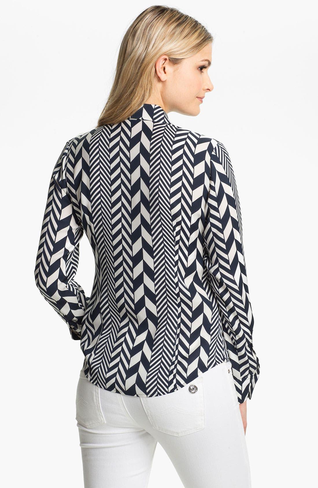 Alternate Image 2  - MICHAEL Michael Kors 'League Stripe' Shirt (Regular & Petite)