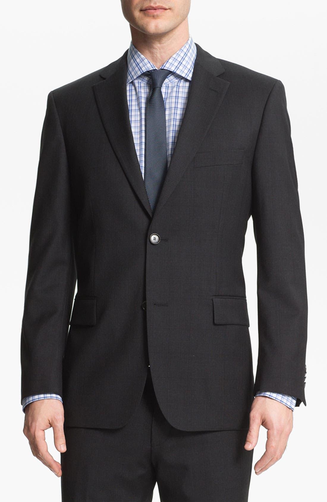 Alternate Image 1 Selected - BOSS Black 'Pasini/Movie' Plaid Wool Suit