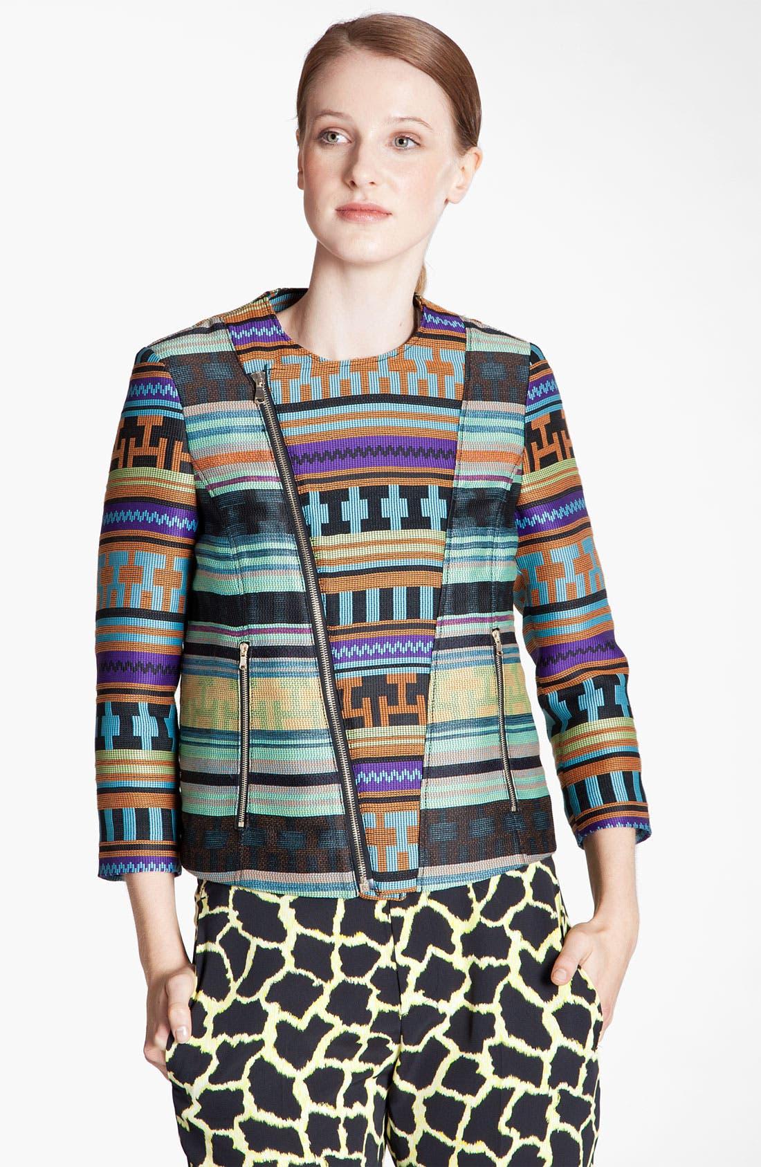 Alternate Image 1 Selected - MSGM Ikat Print Jacquard Jacket
