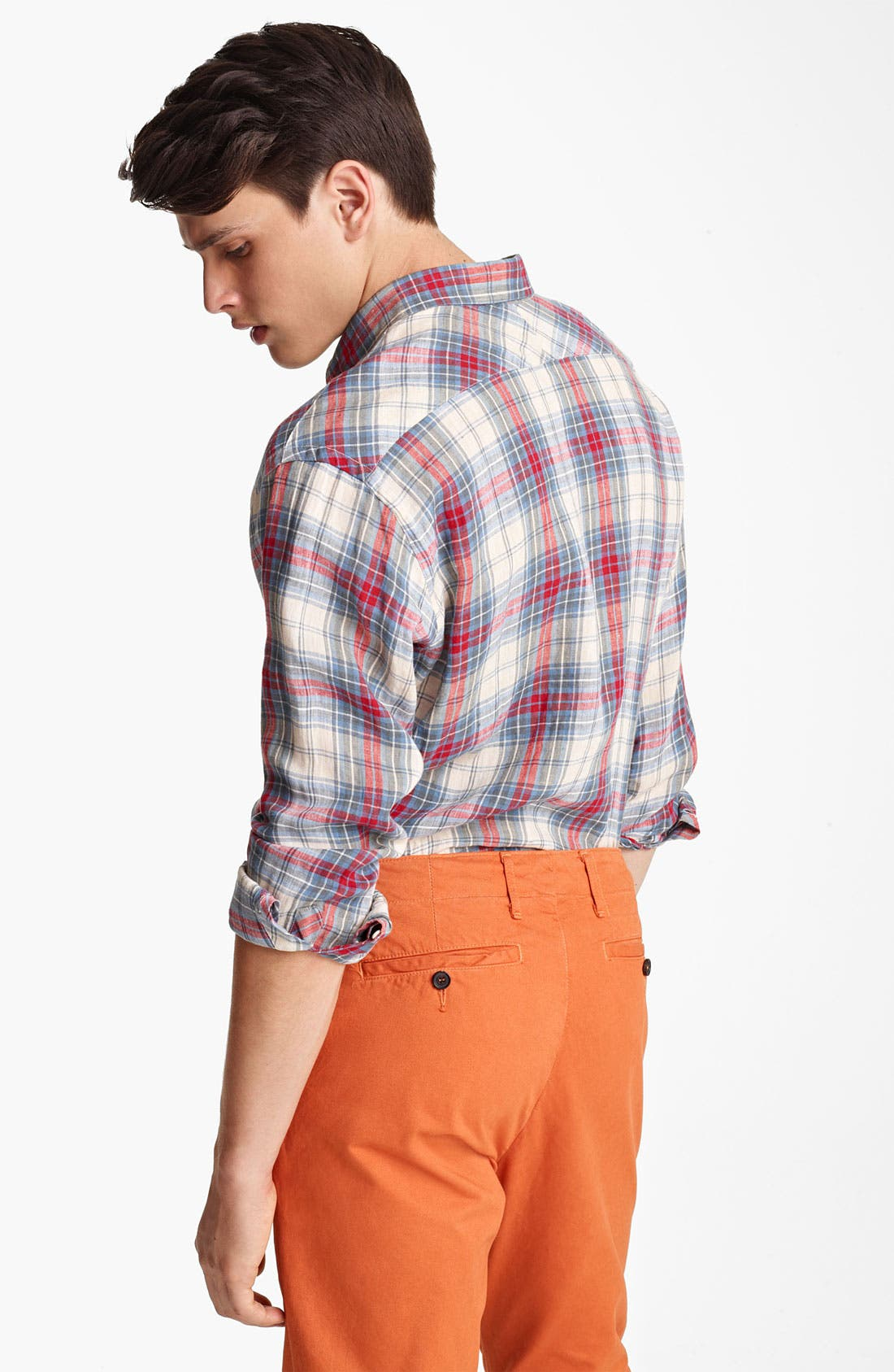 Alternate Image 2  - Billy Reid 'Walland' Plaid Linen Shirt
