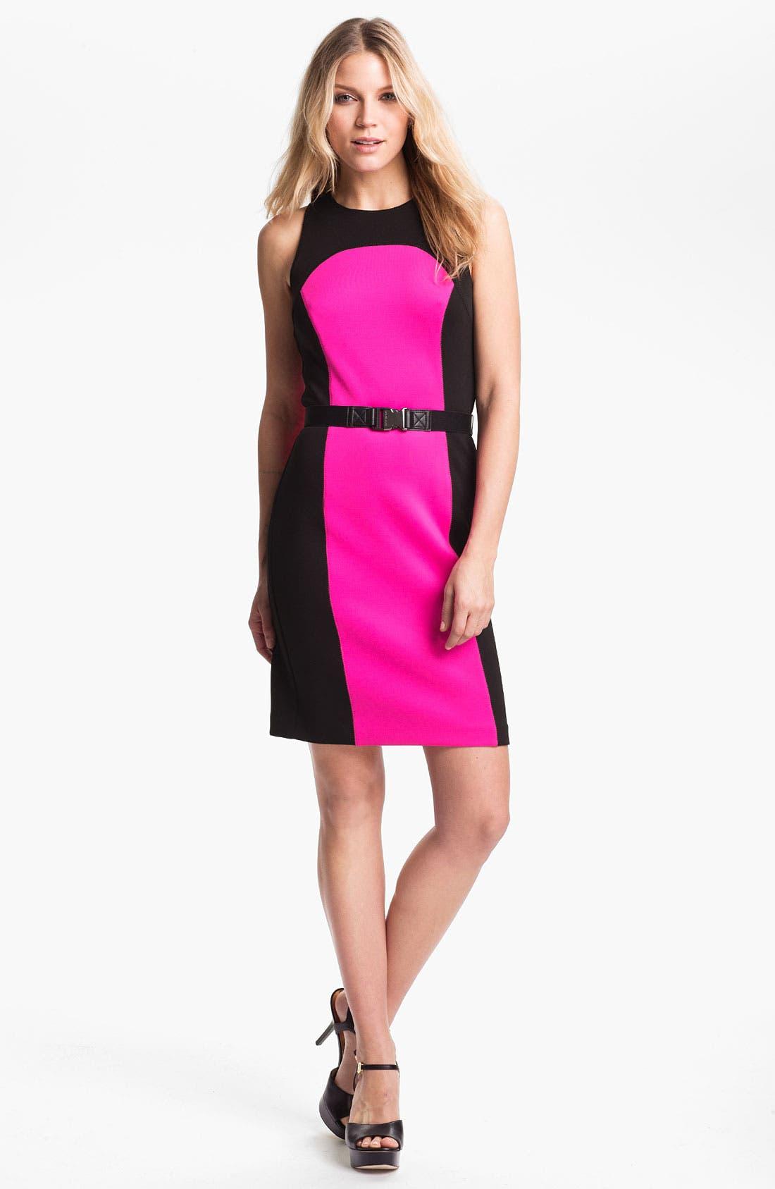 Alternate Image 1 Selected - MICHAEL Michael Kors Cutout Back Scuba Dress