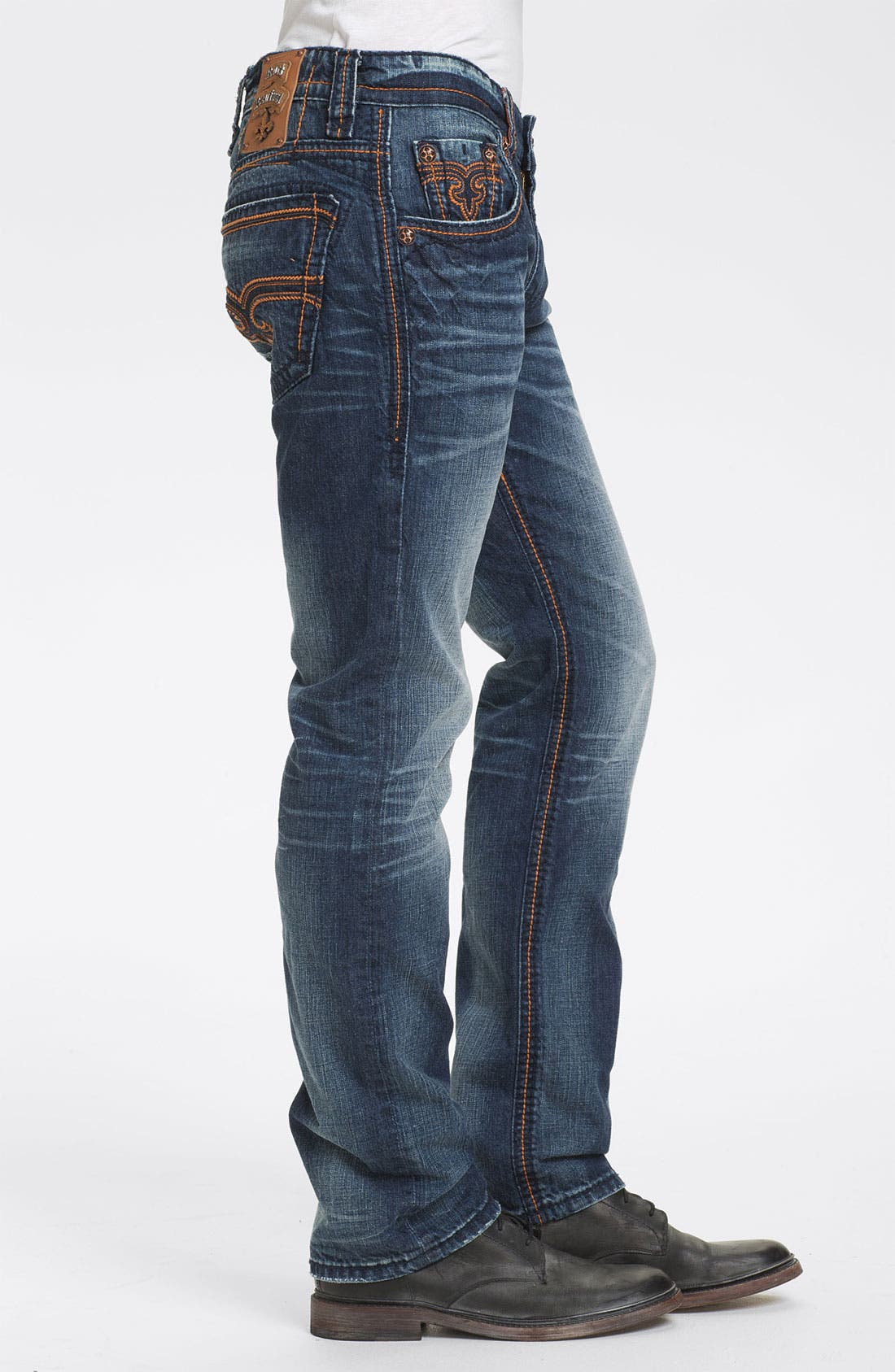 Alternate Image 3  - Rock Revival 'Ewan Alternative' Straight Leg Jeans (Dark Blue)