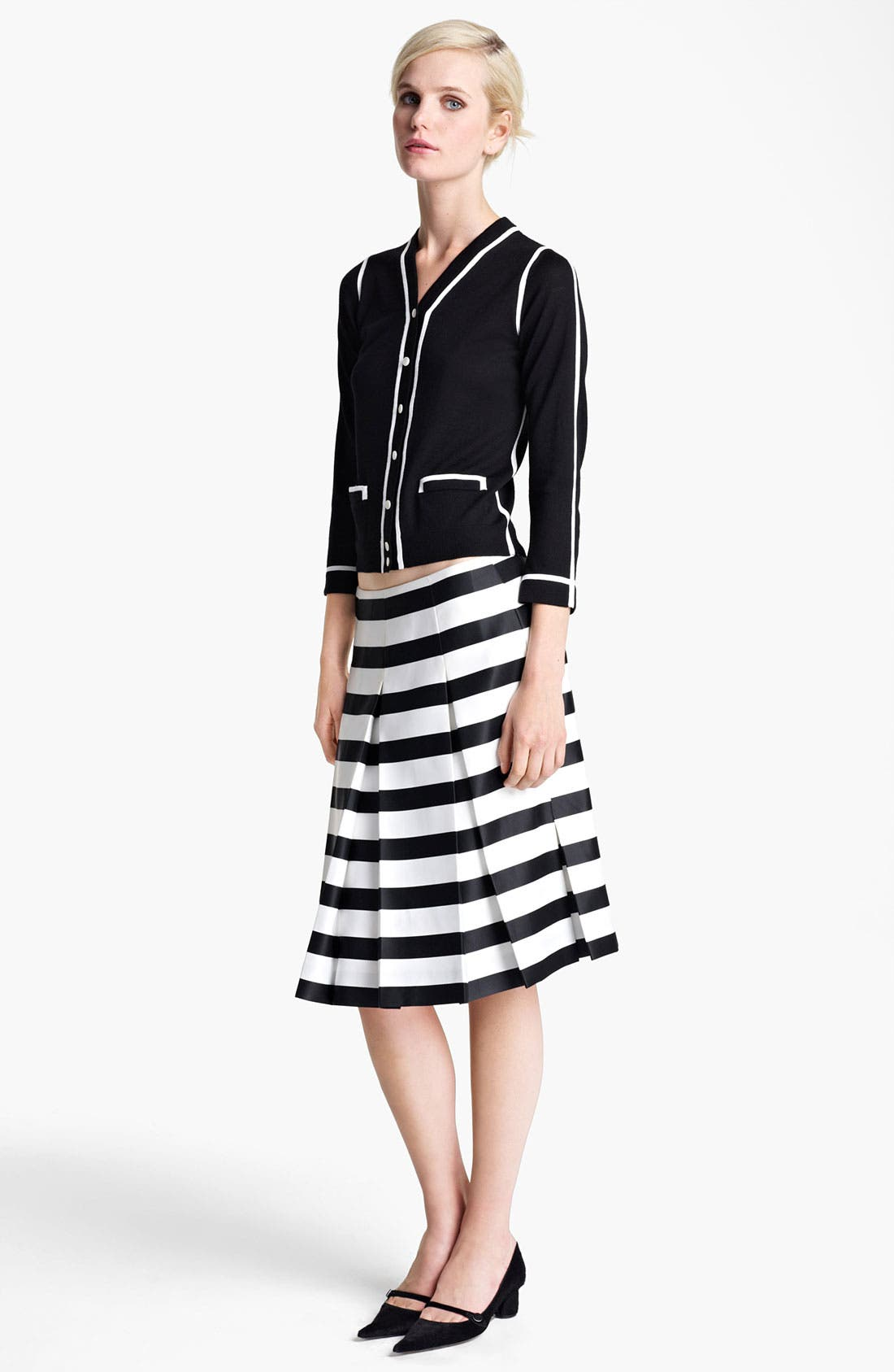 Alternate Image 5  - MARC JACOBS Large Stripe Satin Gabardine Skirt
