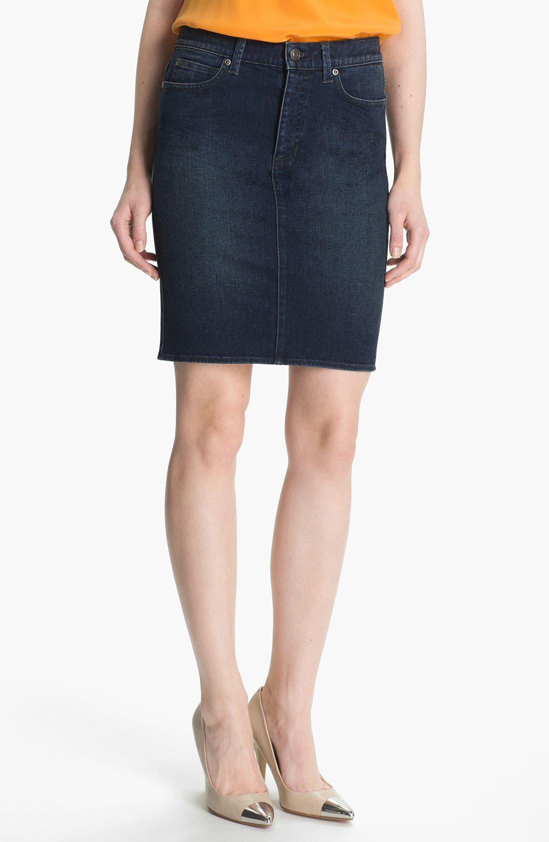 Main Image - Two by Vince Camuto Denim Pencil Skirt