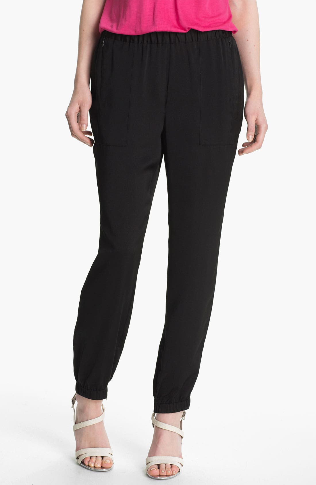 Main Image - Vince Camuto Pull-On Satin Cargo Pants
