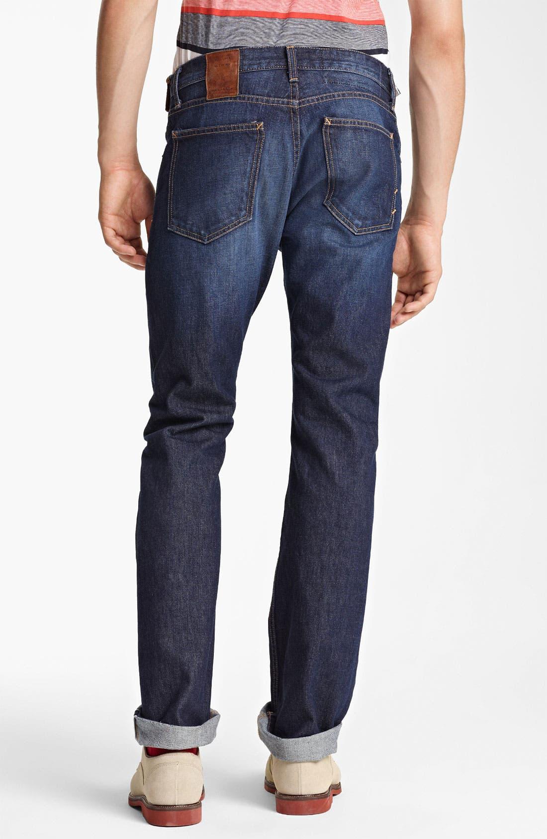 Alternate Image 2  - Billy Reid Slim Fit Jeans (Washed Blue)