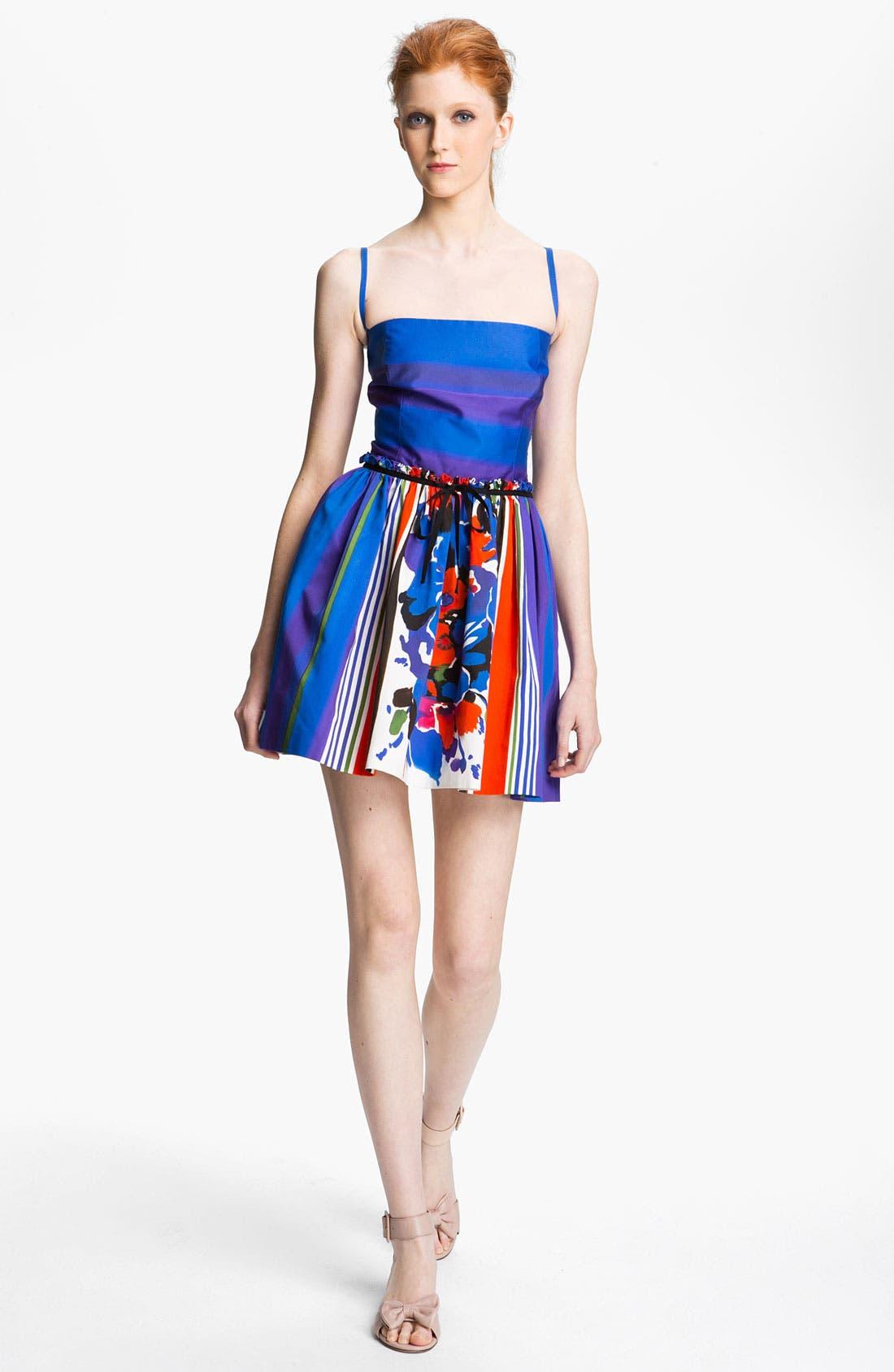 Alternate Image 1 Selected - RED Valentino Multi Print Cotton Dress