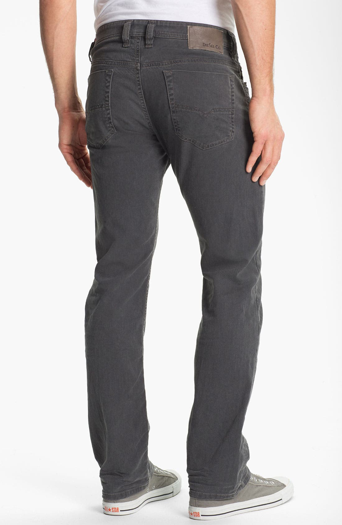 Alternate Image 1 Selected - DIESEL® 'Viker' Straight Leg Jeans (Grey)