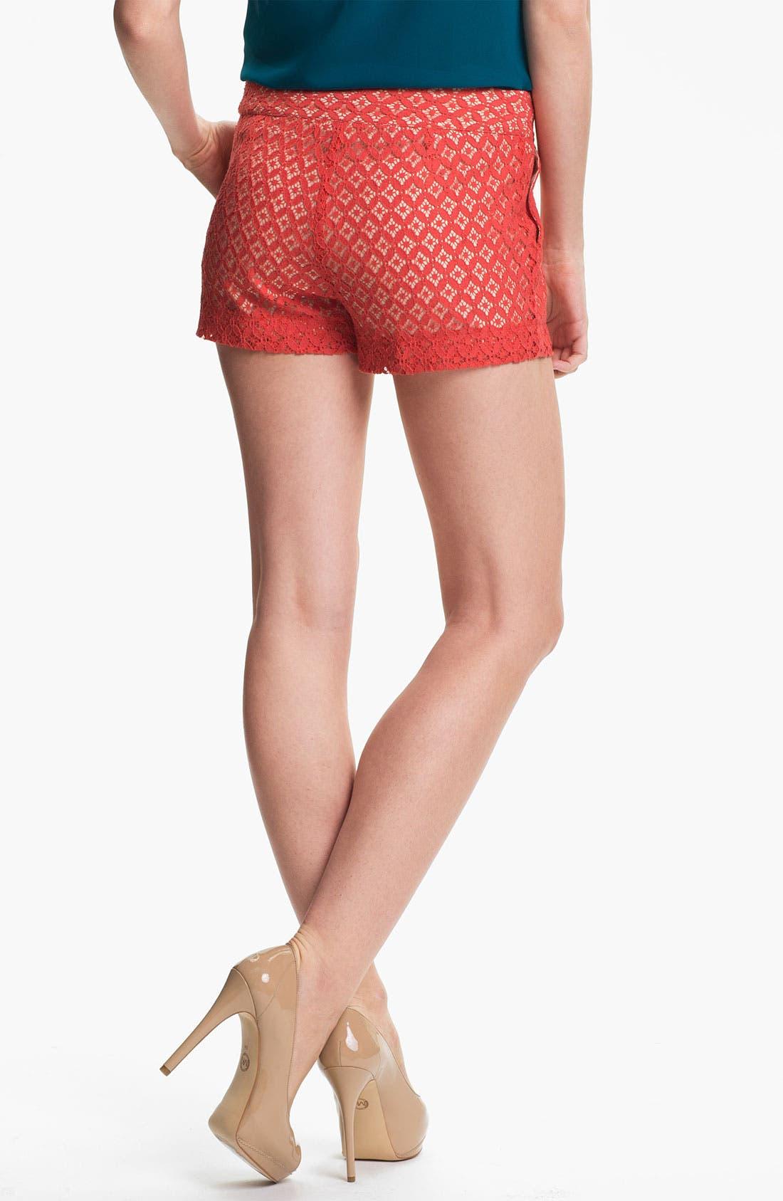 Alternate Image 3  - Kensie 'Geo Lace' Shorts