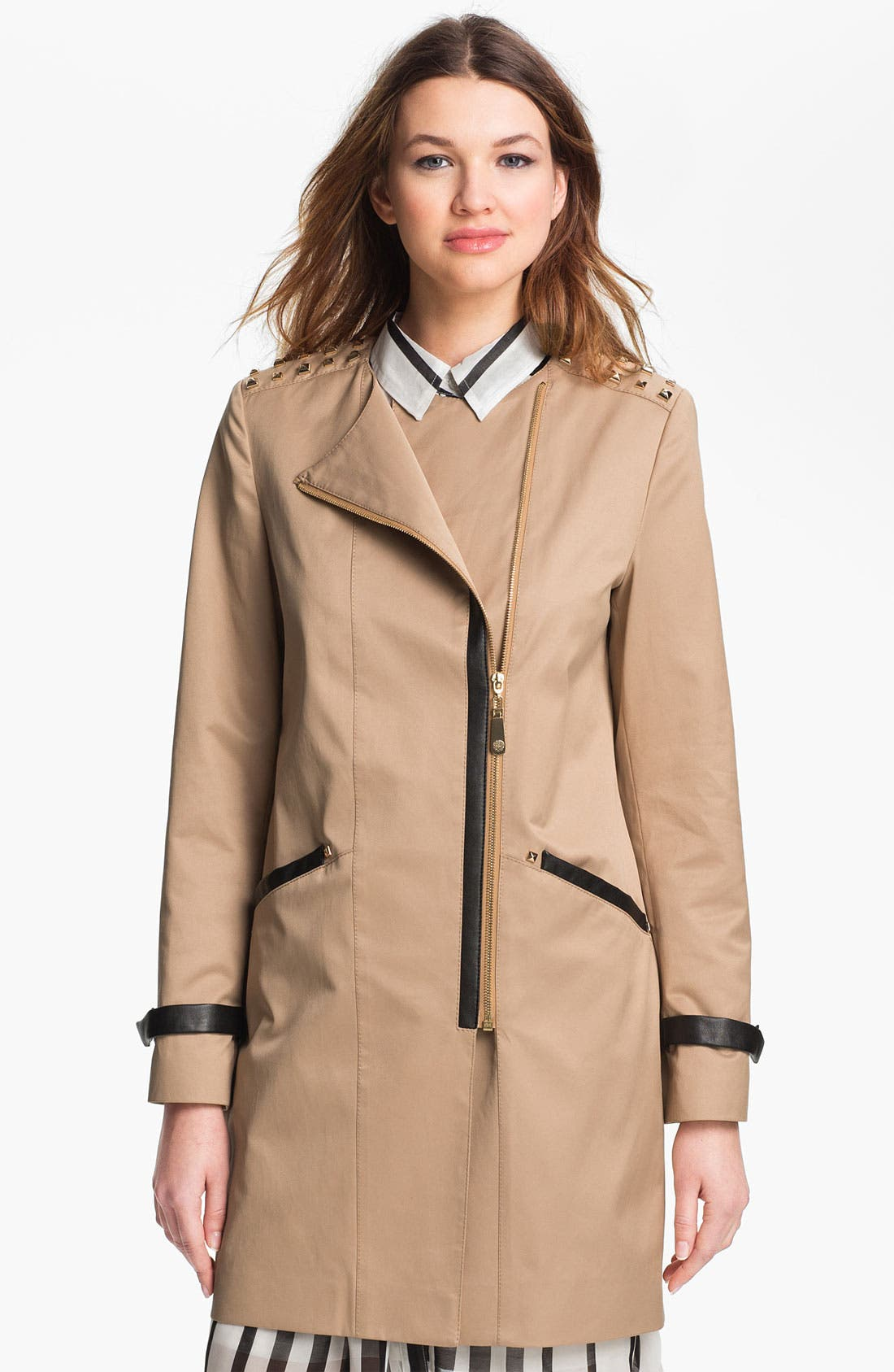 Alternate Image 1 Selected - Vince Camuto 'Nicole' Studded Asymmetrical Coat (Online Only)