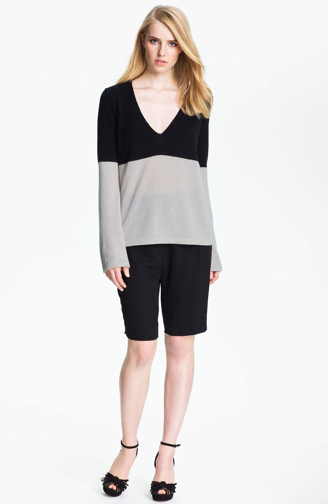 Main Image - Halston Heritage Two Tone Sweater