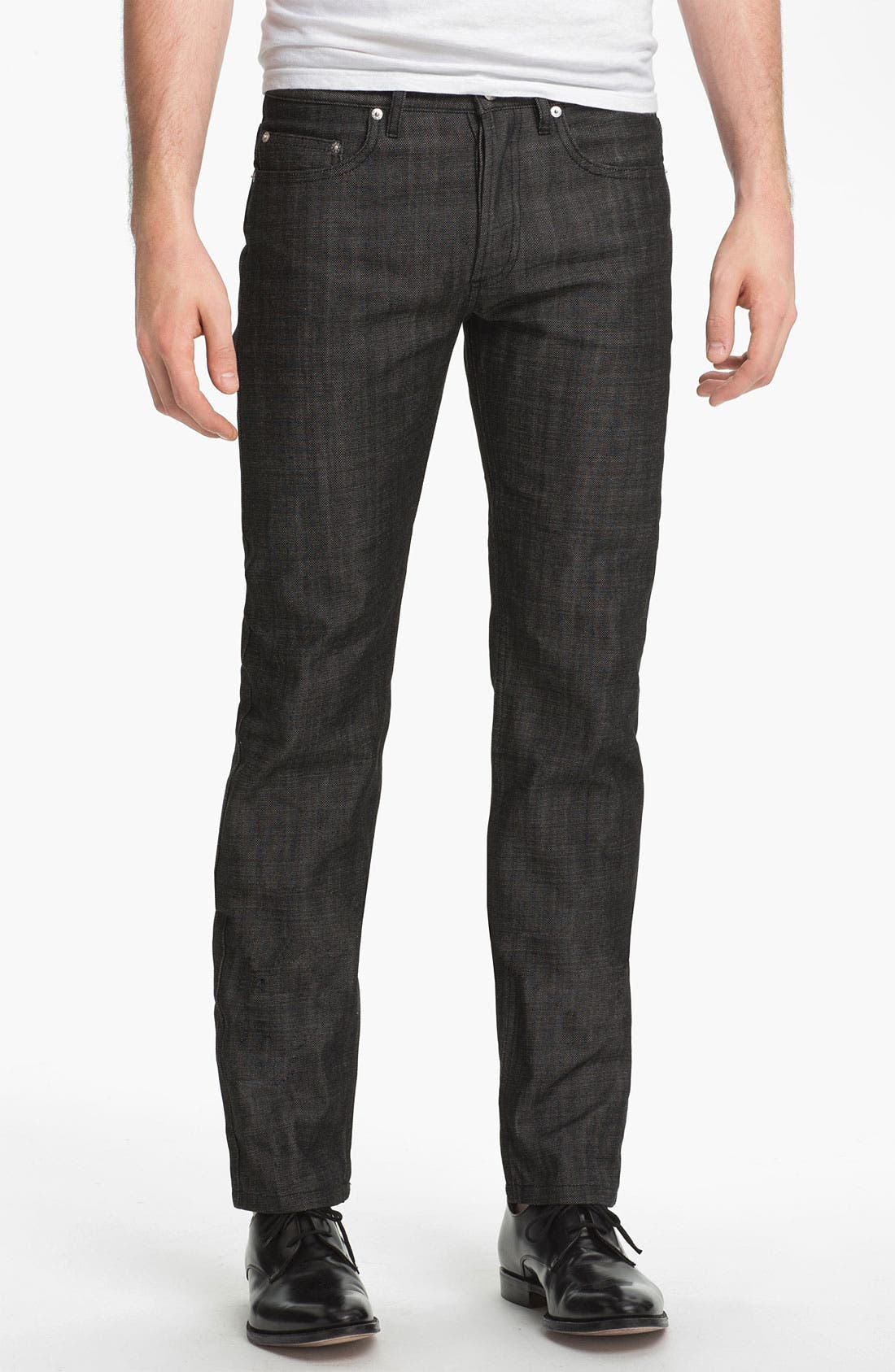 Alternate Image 1 Selected - A.P.C. 'New Standard' Slim Straight Leg Jeans (Black) (Online Only)