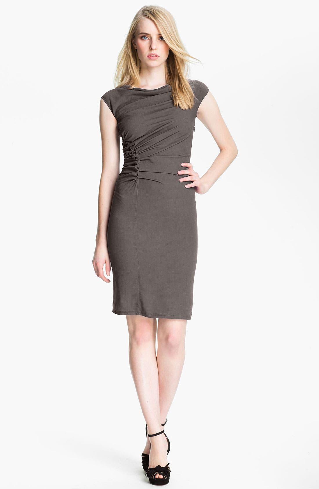 Alternate Image 1 Selected - Halston Heritage Reverse Pleat Crepe Sheath Dress