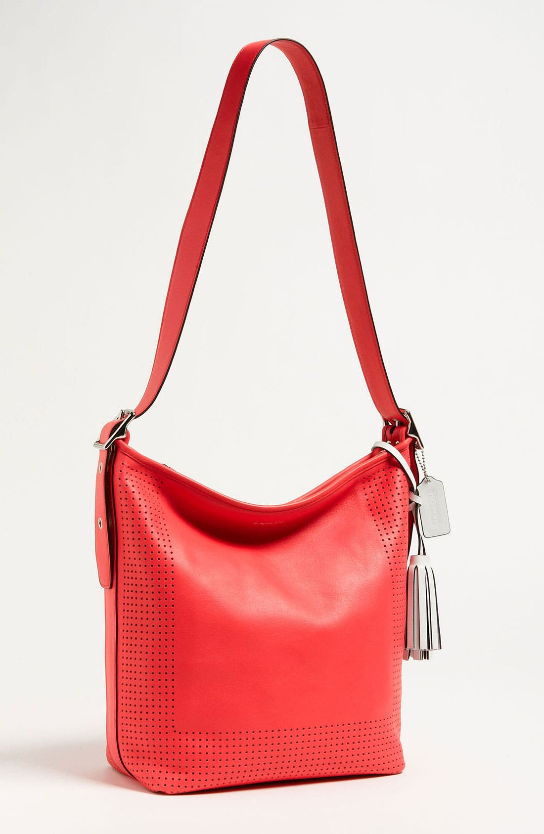 Alternate Image 1 Selected - COACH 'Legacy' Perforated Leather Shoulder Bag