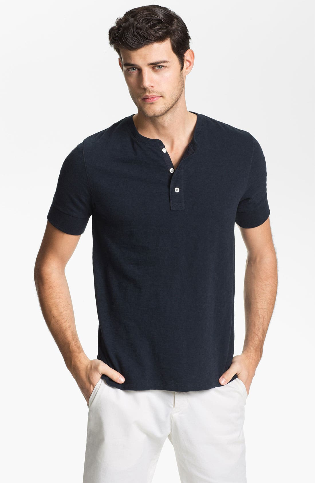 Alternate Image 1 Selected - Vince Slubbed Cotton Henley T-Shirt