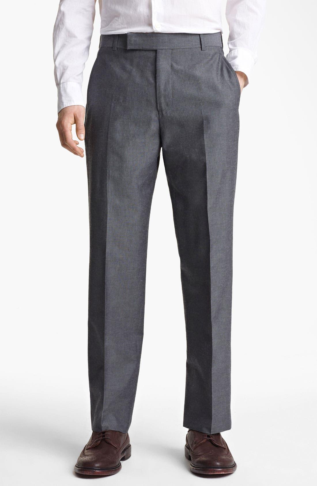 Alternate Image 4  - Billy Reid 'Campbell' Grey Stripe Suit
