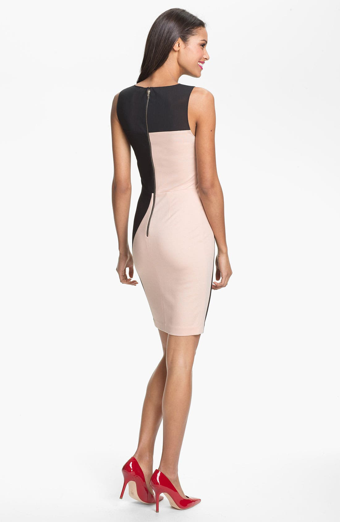 Alternate Image 2  - ERIN erin fetherston Mesh Yoke Colorblock Sheath Dress