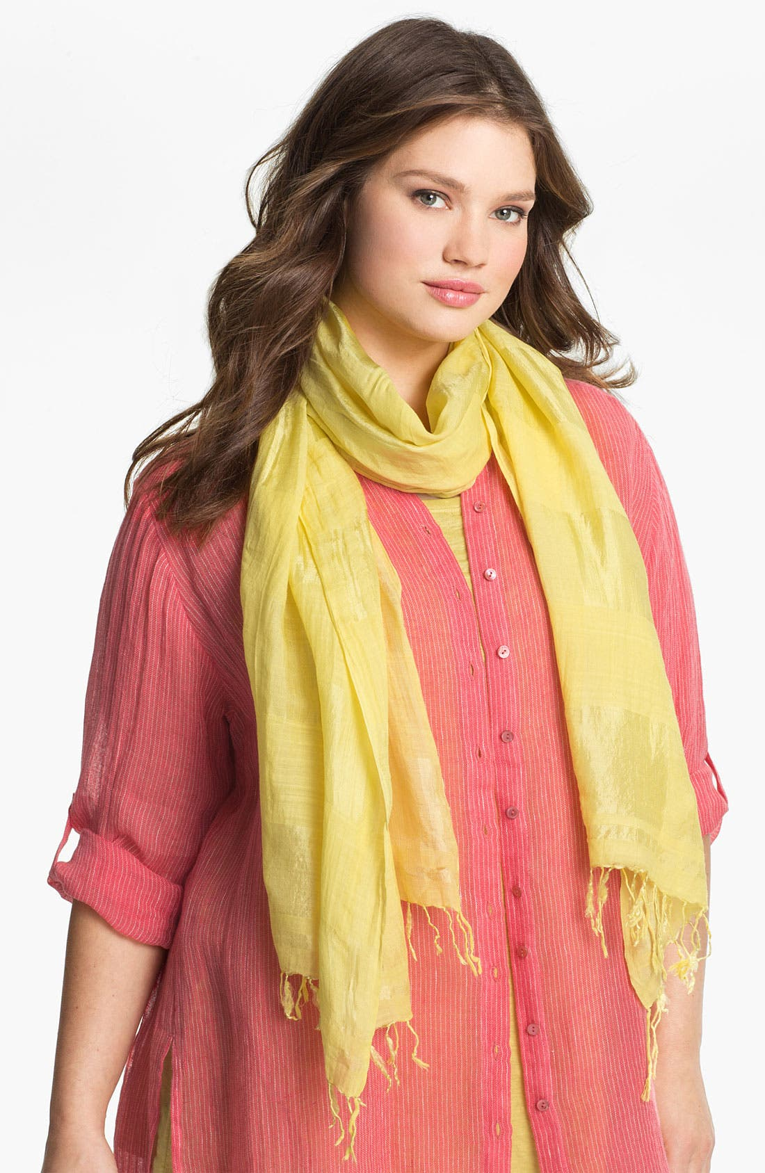 Alternate Image 1 Selected - Eileen Fisher Fringed Scarf