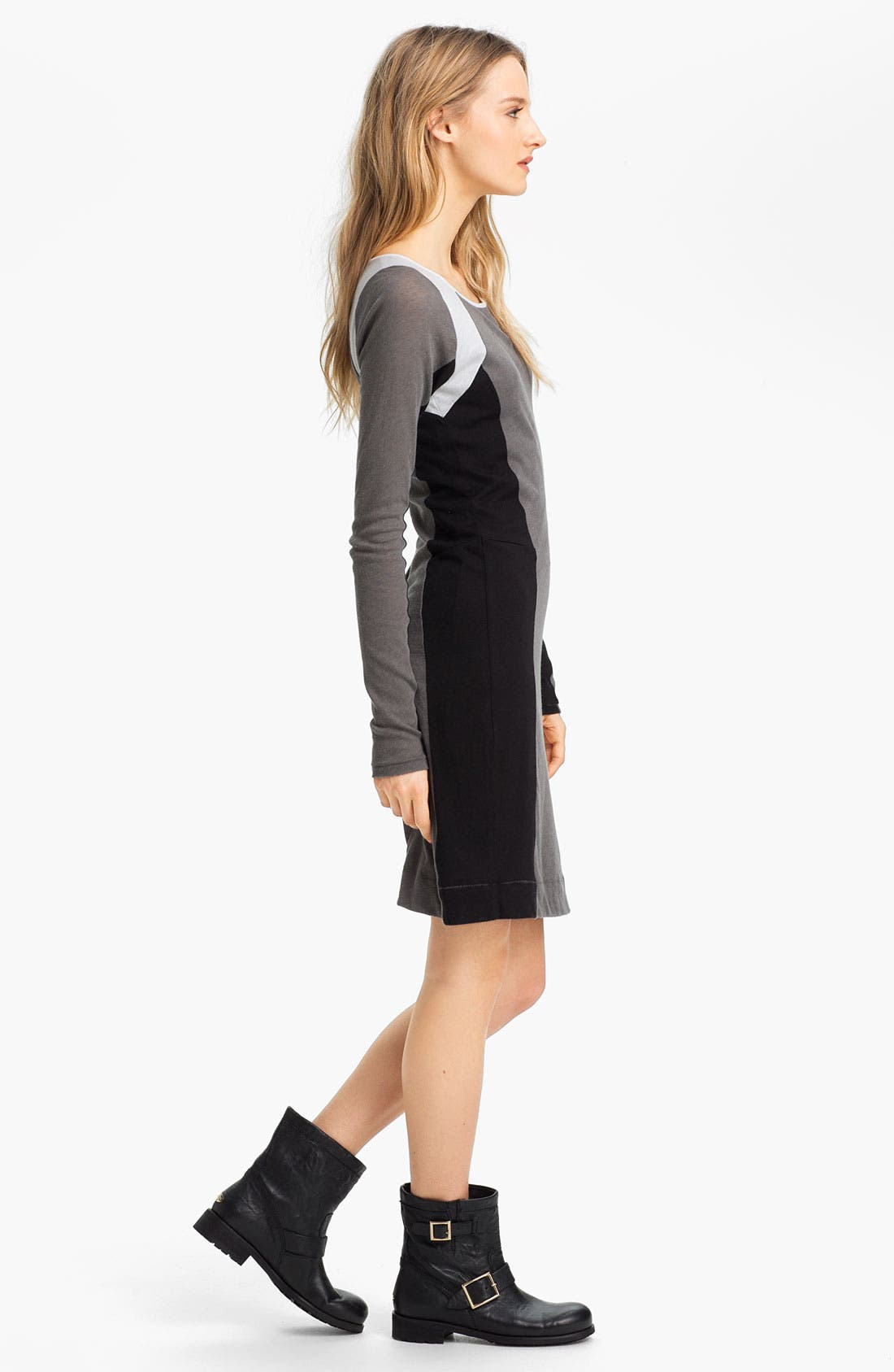 Alternate Image 2  - rag & bone 'The Moto' Contrast Panel Dress