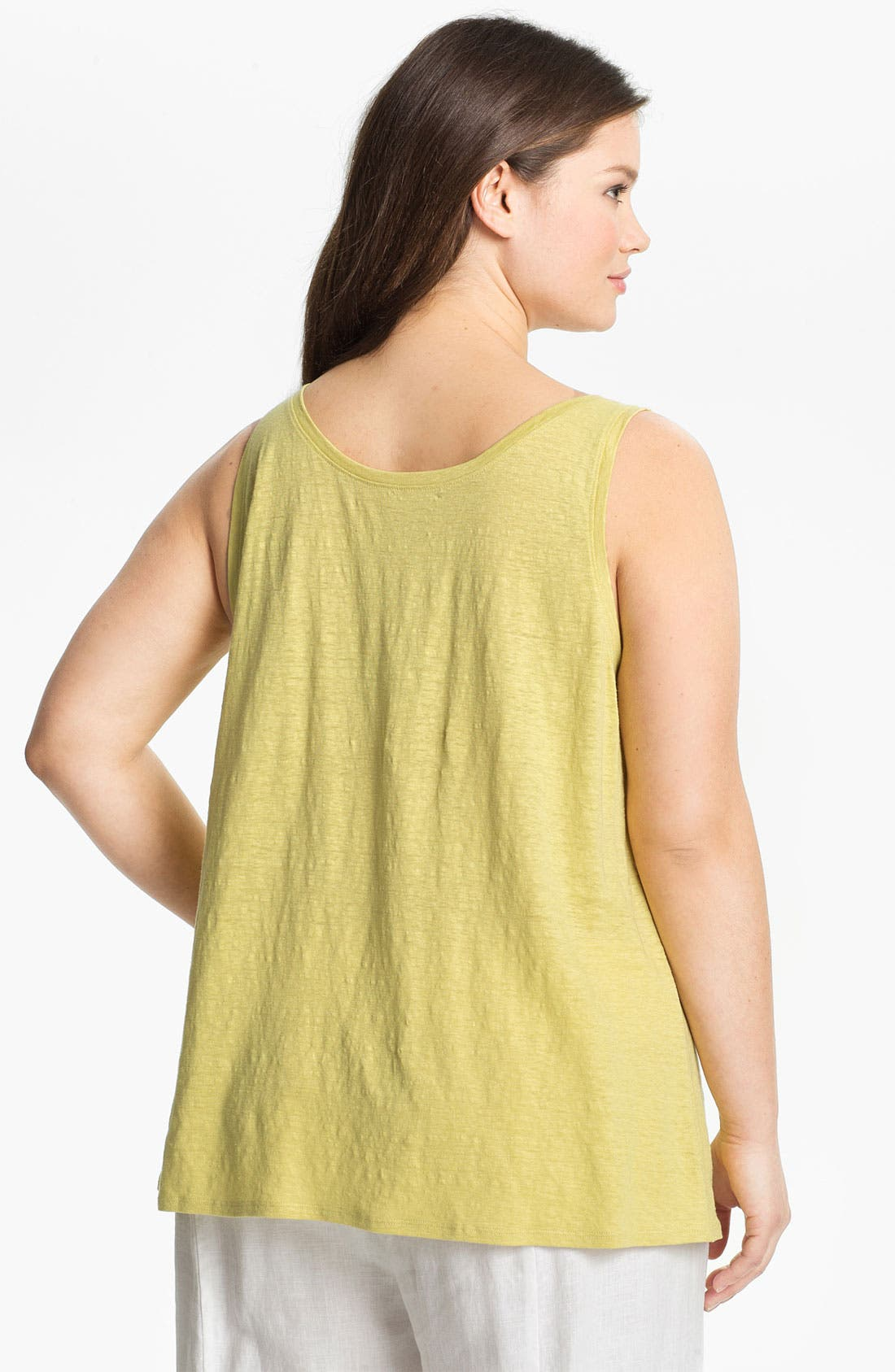Alternate Image 2  - Eileen Fisher Linen Tank (Plus Size)
